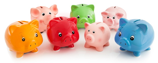 Sparzinsen Zinstief EZB Leitzinsen Nullzins Sparschweine Sparer sparen Zinsen Zins