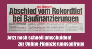 Zinsanstieg 2018 Zins-Hammer Abschied vom Rekordtief